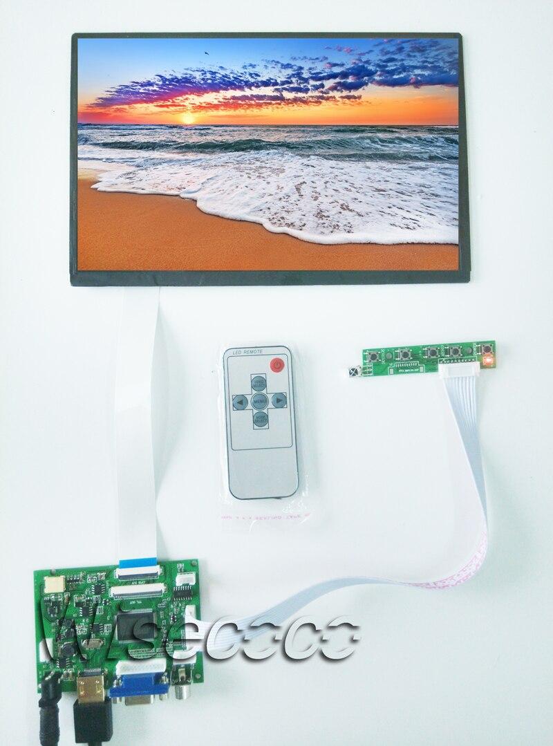 Monitor Raspberry Pi 10,1 IPS, Monitor de placa controladora TFT EJ101IA-01G de 1280x800, HDMI VGA AV LVDS 2AV para Raspberry
