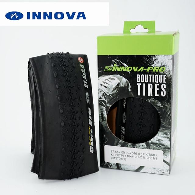 "Llantas de bicicleta INNOVA 27,5x2,0 60TPI mountain mtb, llantas de bicicleta ultraligeras 374g plegables, neumáticos de cuentas de 27,5 ""racing pneu 27.5er en caja"