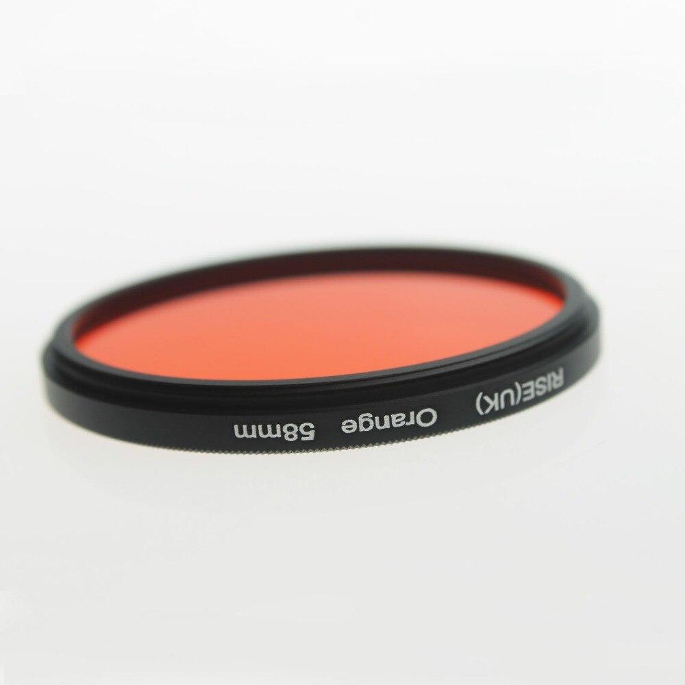 RISE (UK) 58mm Filtro de lente a todo Color naranja para cámara Digital Canon Nikon DSLR SLR