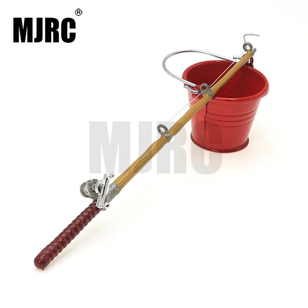 MJRC Mini Fishing Rod Tool Accessories for 1:10 RC Rock Crawler Axial SCX10 90046 Wraith Yeti D90 D110 Traxxas TRX-4