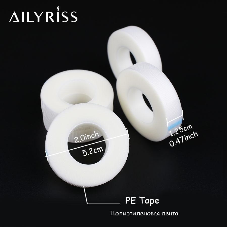 Волокно для наращивание ресниц накладки для глаз 5 рулонов белая лента Нетканые ткани под глазами накладки бумага для накладных ресниц накл...