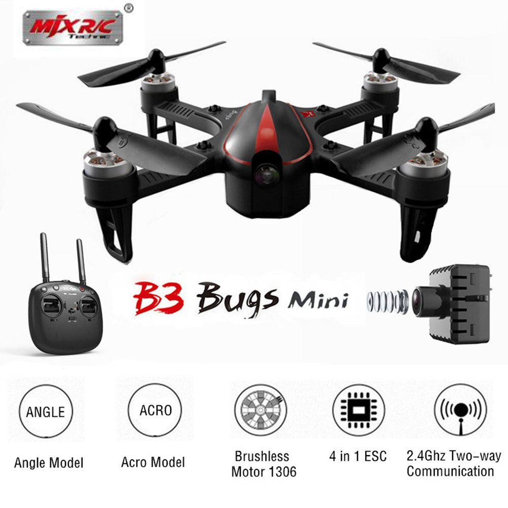 MJX Bugs 3 mini B3Mini FPV RC Quadcopter RC Drone con C5810 Wifi Cámara 2,4G 6 ejes Motor sin escobillas RC helicóptero juguetes VS Bugs3