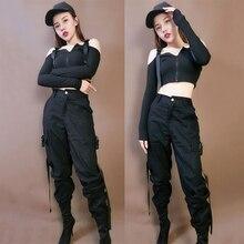 Moda Jazz kostium taneczny kobiety Hip Hop odzież w stylu rave taniec uliczny odzież sportowa klub nocny DJ DS Gogo strój sceniczny DC1524