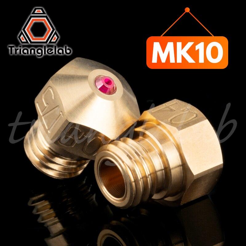 Trianglelab haute température MK10 rubis buse fil M7 pour Micro suisse MK10 HOTEND bloc chauffant avec PETG ABS PEI PEEK NYLON
