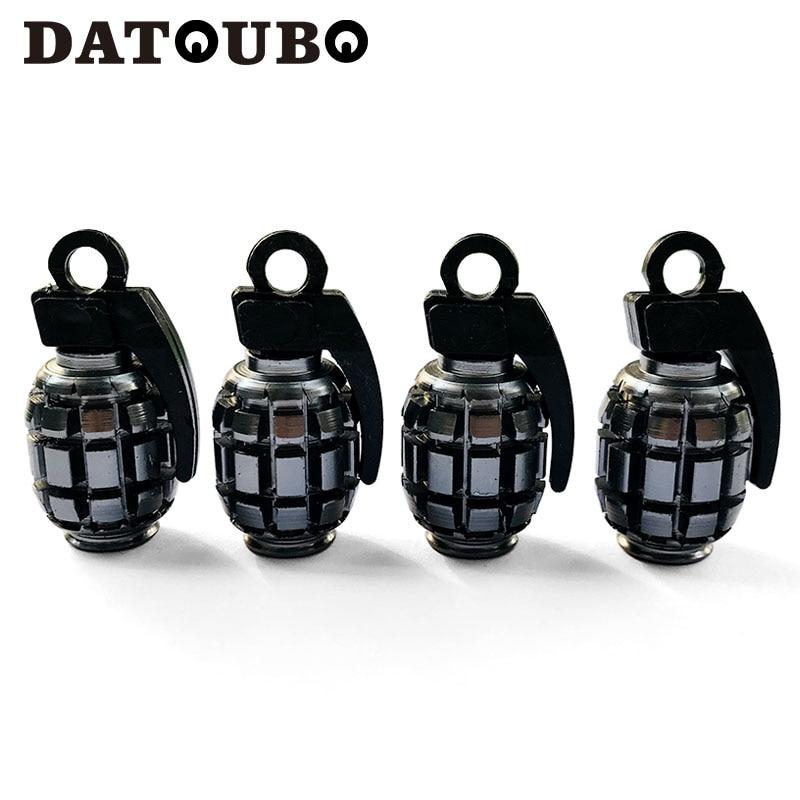 DATOUBO, 4 Uds., tapa de válvula de llanta de bicicleta de color mezclado de aluminio, tapa de vástago de válvula Schrader, tapa de válvula antipolvo, tapa de válvula de neumático