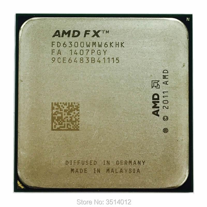 AMD FX-Series FX-6300 FX 6300 3,5 GHz, procesador de CPU de seis núcleos FD6300WMW6KHK Socket AM3 +