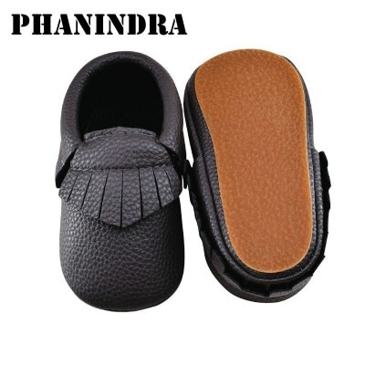 New kids rubber shoes Baby Moccasins Shoes fringe pu Leather baby boys kids Shoes slip-on first walk