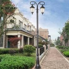 3M exterior negro doble brazo decorativo poste de luz de calle poste para la venta