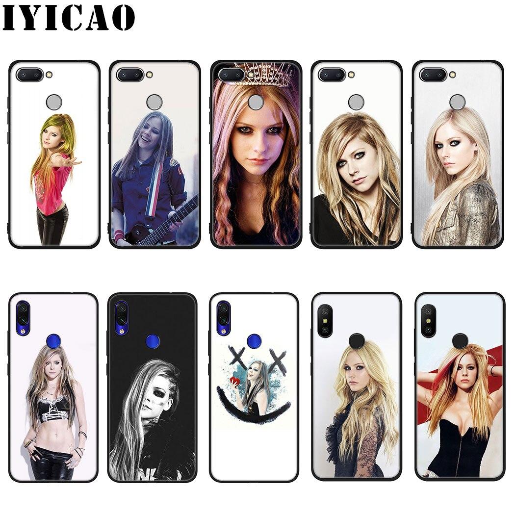 IYICAO Avril Lavigne caso suave para Xiaomi Redmi 4A 4X 5 5A 5 6 Plus 6A 7A 6 Pro 7 S2 K20 Pro