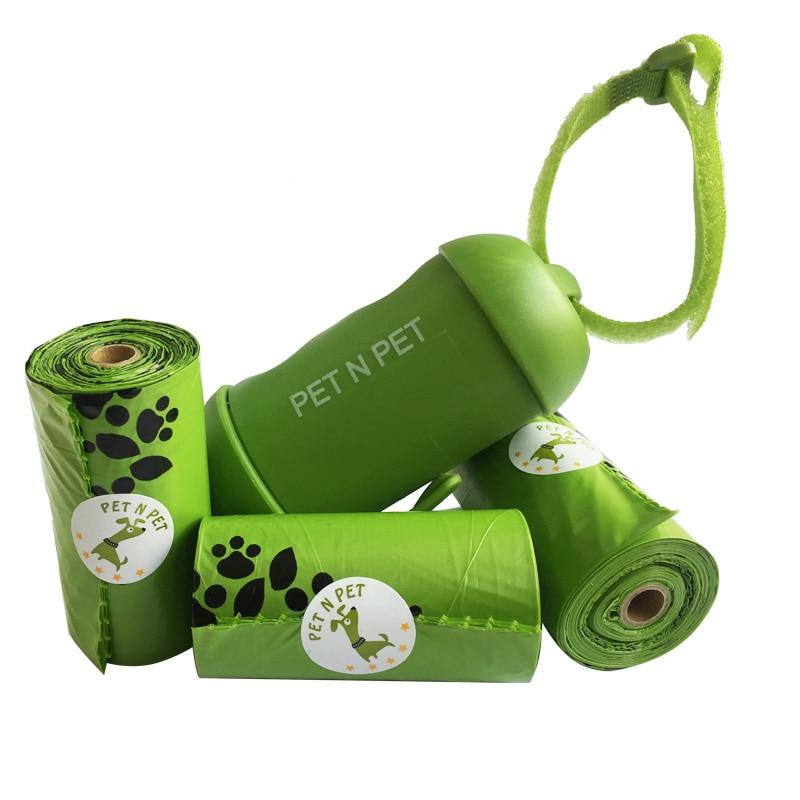 Pet N корм для питомцев, мешки для собаки, экологически чистые 3 рулона с 1 дозатором для собак, мешки для собак, несколько цветов на выбор