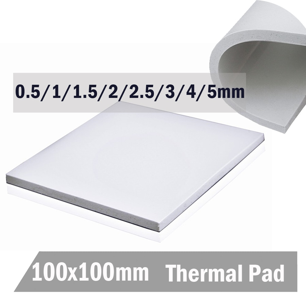 Gdstime 100mm*100mm*5mm White IC Chip Conduction Heatsink 0.5mm 1mm 1.5mm 2mm 3mm 4mm 5mm Thermal Pads Compounds Silicone Pad 10 pcs to 220 silicone thermal heatsink insulator pads w insulating particles for lm78xx lm317 tdaxx