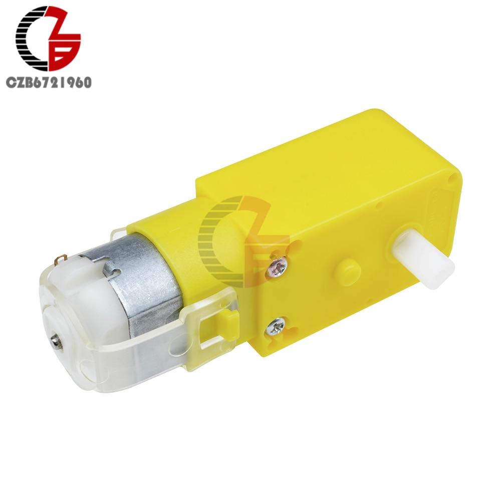Double Shaft DC Gear Motor DC 3V-12V 1:48 Dual Shaft DC Motor Electric Motor for Arduino Robot Smart Car Toys DIY Model