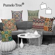 Housse de coussin carré rétro style Boho   Style rétro abstrait, décoration géométrique, coussins décoratifs, pour la maison, lit, coussins de canapé