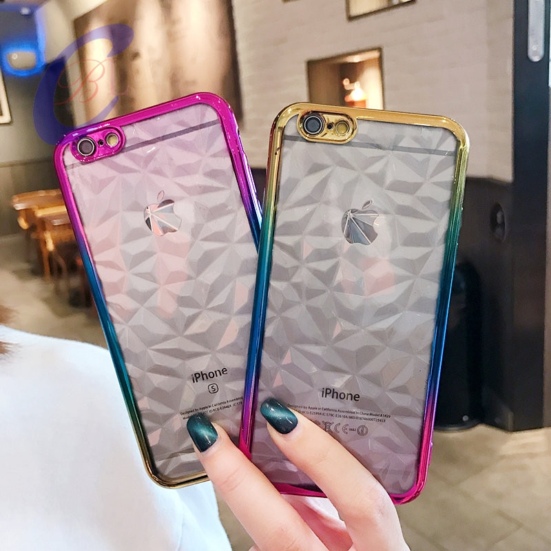 100 pcs dhl colorido 3d brilhante diamante caso para iphone 6 6s caso a prova de