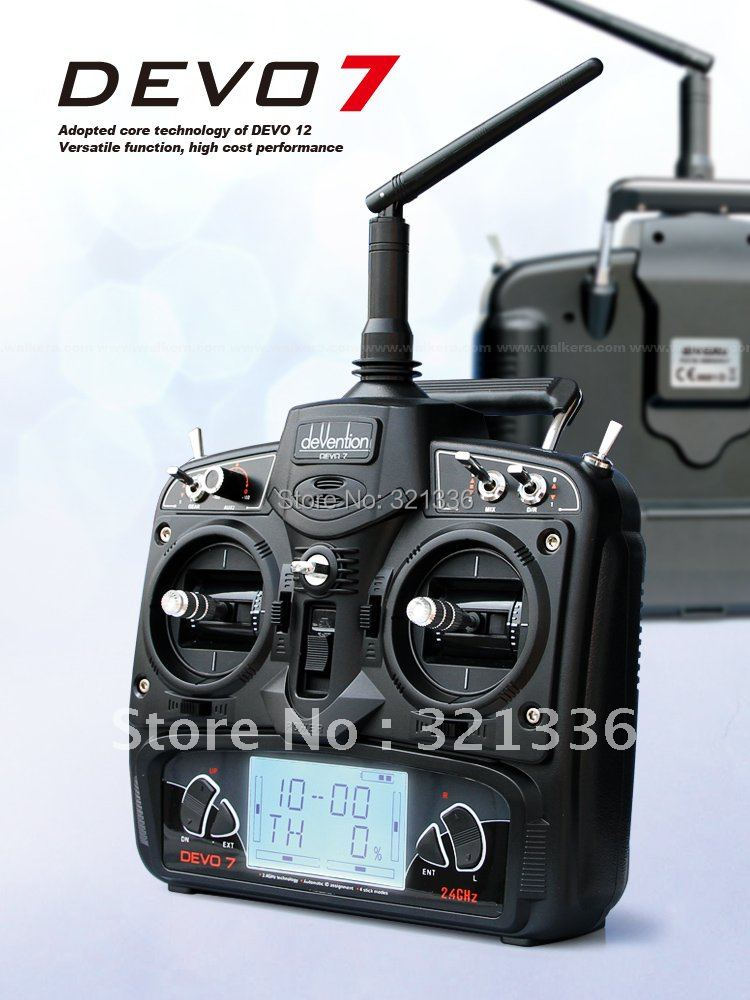 Walkera Devo 7 DEVO 7 Transmitter 7 Channel DSSS 2.4G Transmitter Without Receiver for Walkera Helis