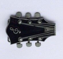 Boucle de ceinture pour tête de guitare   Rouge et noir