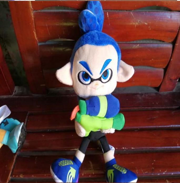"Little Buddy Splatoon 2 Male Boy Blue Inkling 10"" Stuffed Plush Authentic"