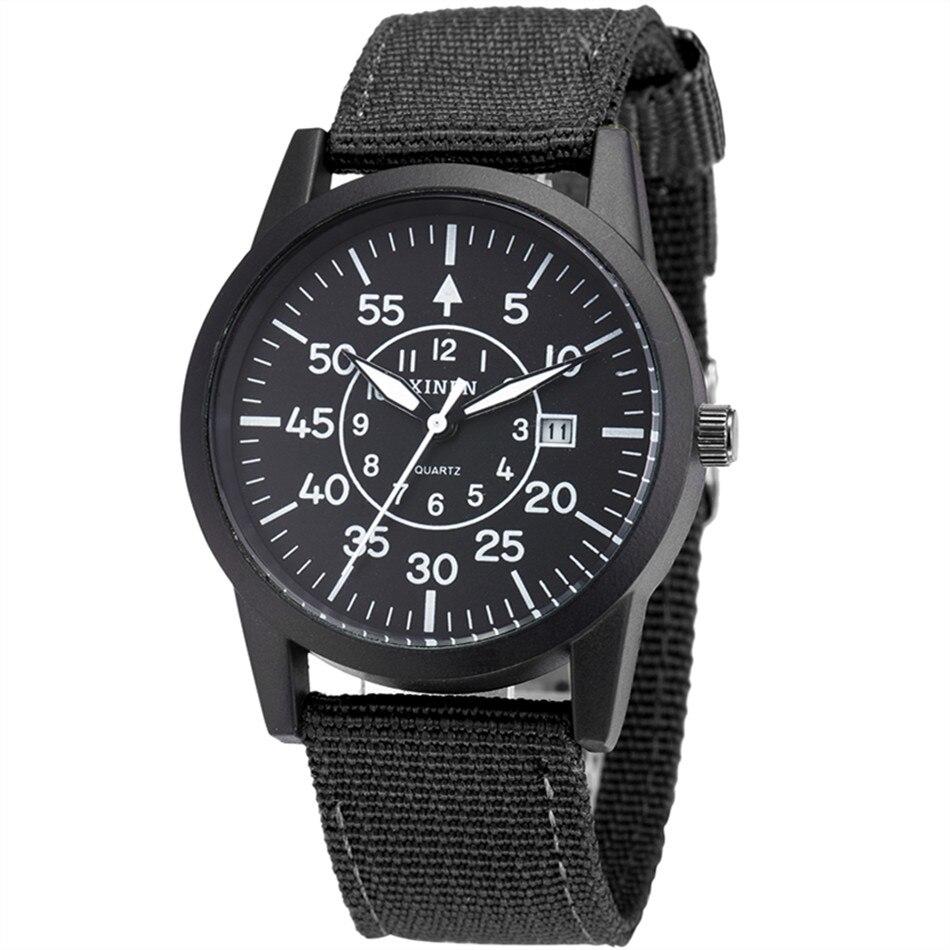 Hot Selling Fashion Luxury Brand XINEW Nylon Strap Quartz Watches Women Men Military Wrist Watch Relogio Masculino Gift Clock