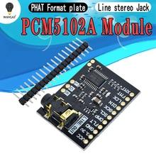 Для Raspberry Pi pHAT звуковая карта I2S интерфейс PCM5102 модуль DAC 24-битная аудио Плата со стерео разъемом Beyond ES9023 PCM1794