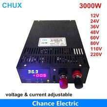 3000W Schakelende Voeding 0-12V Verstelbare Output 15V 24V 36V 48V 60V 80V 90V 100V 110V Ac Naar Dc Led Dispaly Voeding