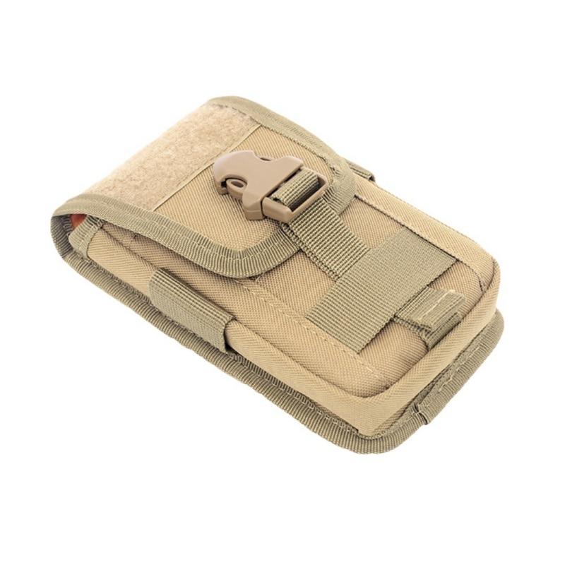 Outdoor Tactical Molle Belt Multi-function Mini Waist Bag Phone Holster Card Carrier Bag  Hook Loop Travel Bag Pack