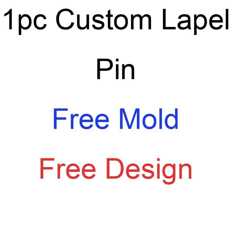 1 Pza 1-2,5 cm Cutom suave esmalte alfileres solapa Diseño libre de molde