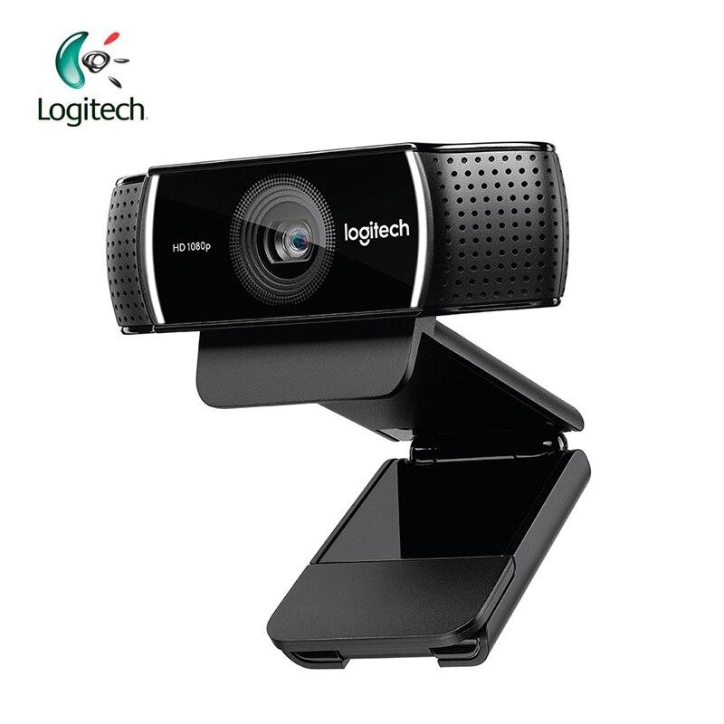 لوجيتك-كاميرا ويب C922 عالية الدقة ، 1080 بكسل ، 720 بكسل ، at 60FP ، ميكروفون مدمج ، مفتاح خلفي لتسجيل مكالمات الفيديو ، دعم الفحص الرسمي