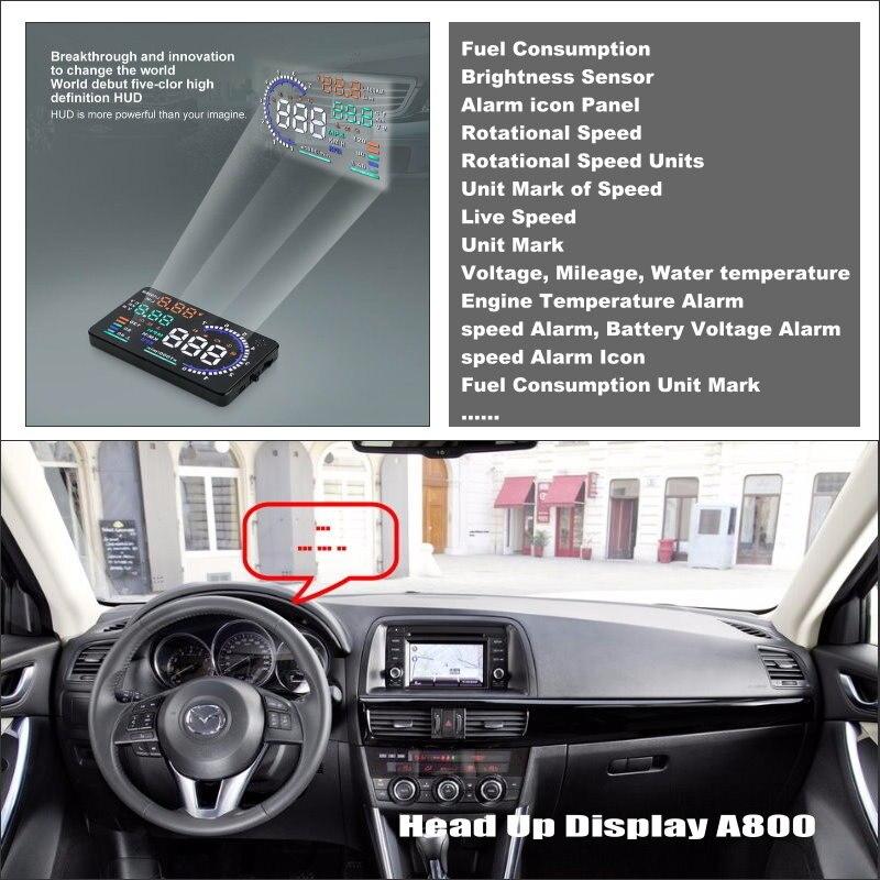 Автомобильный HUD Дисплей для Mazda CX-5 CX 5 CX5 2013 2014 2015 Refkecting лобовое стекло экран безопасный проектор для вождения