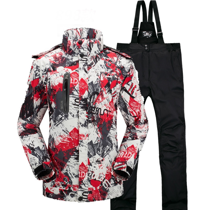 2018 New  Winter Warm Ski Suit  Set  Men  Women   Windproof Waterproof Thermal   Jacket  And  Pants Sets Winter Snow Skiing Suit