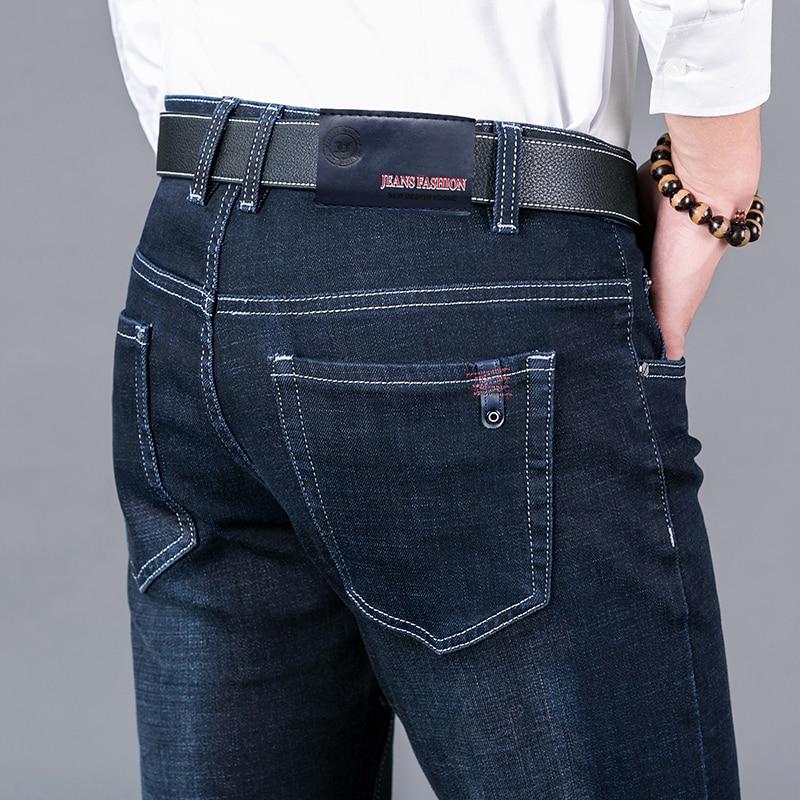 Мужские джинсы, классические прямые байкерские джинсы, облегающие брюки