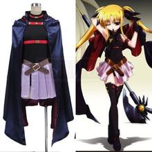 Magical Girl Lyrical Nanoha Fate Testarossa Harlaown cosplay costume personalizzare il Trasporto Libero