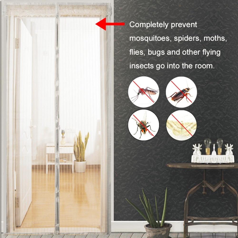 Летние Антимоскитные Насекомые Муха Жук шторы магнитная сетка Автоматическая закрывающая дверь экран кухонные шторы