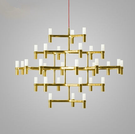 Lámparas de araña Vitrust de estilo nórdico Lampadari Kroonluchter, lámparas modernas de candelabro, lámparas led para sala