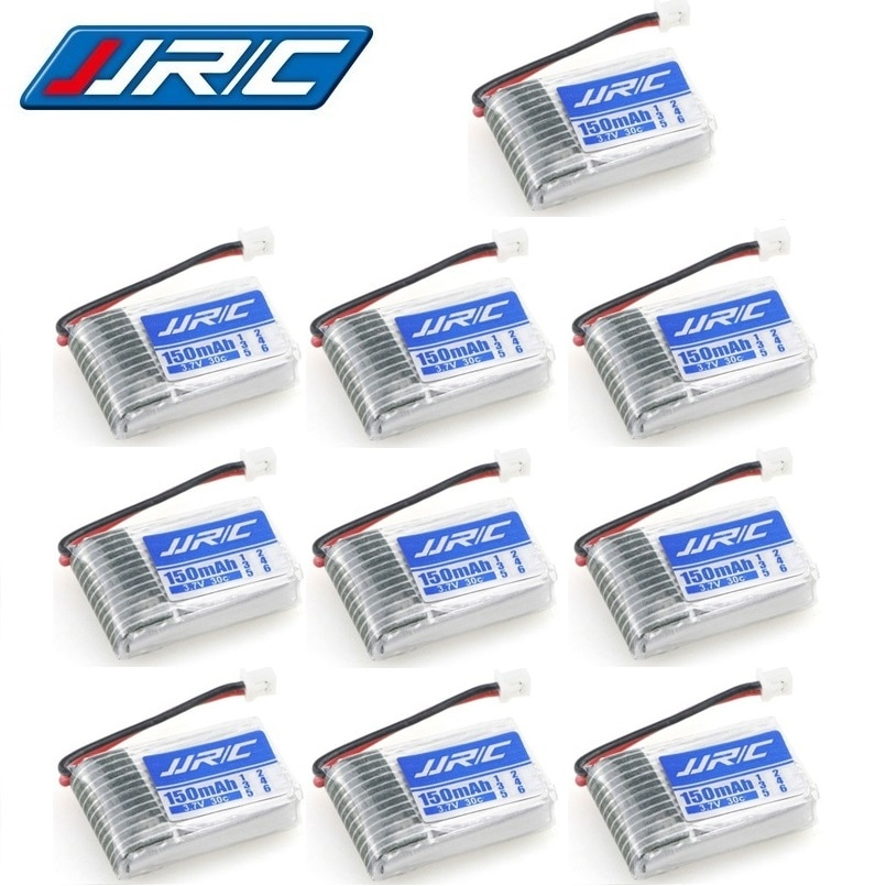 10pcs/set JJRC H20 Original Battery 3.7V 150mAh For JJRC H20 Syma S8 M67 U839 RC Quadcopter Parts 3.7V Lipo Battery 150mAH 30C