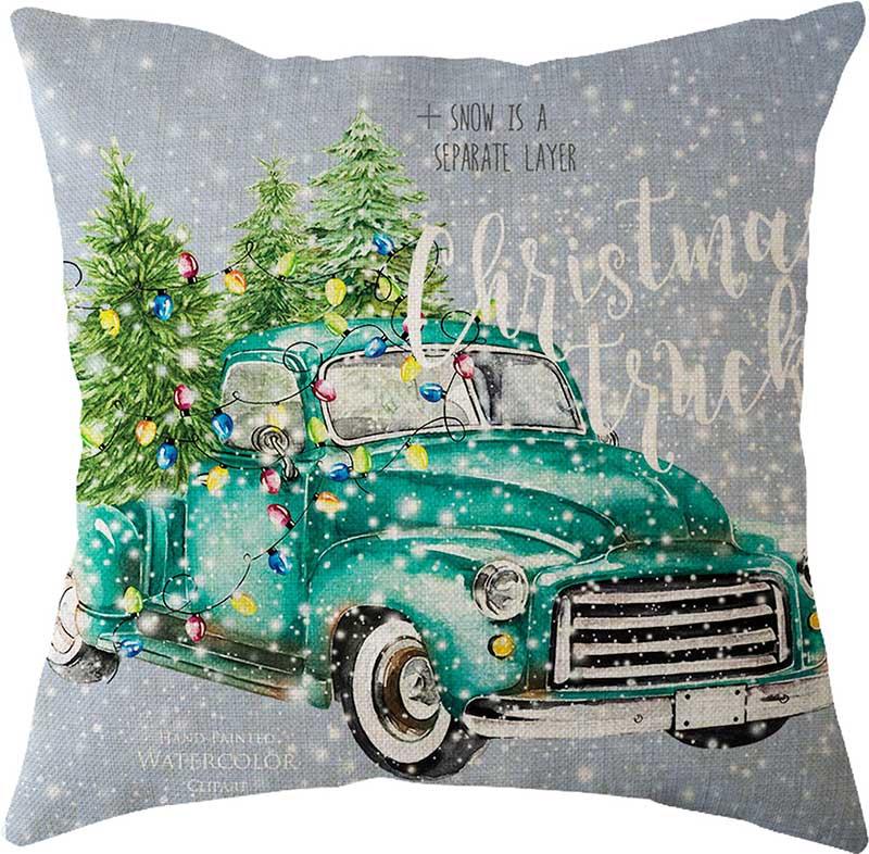 Estilo nórdico natal decorações de natal para casa dos desenhos animados fronha casa escritório carro cintura almofada fronha 45x45cm atacado