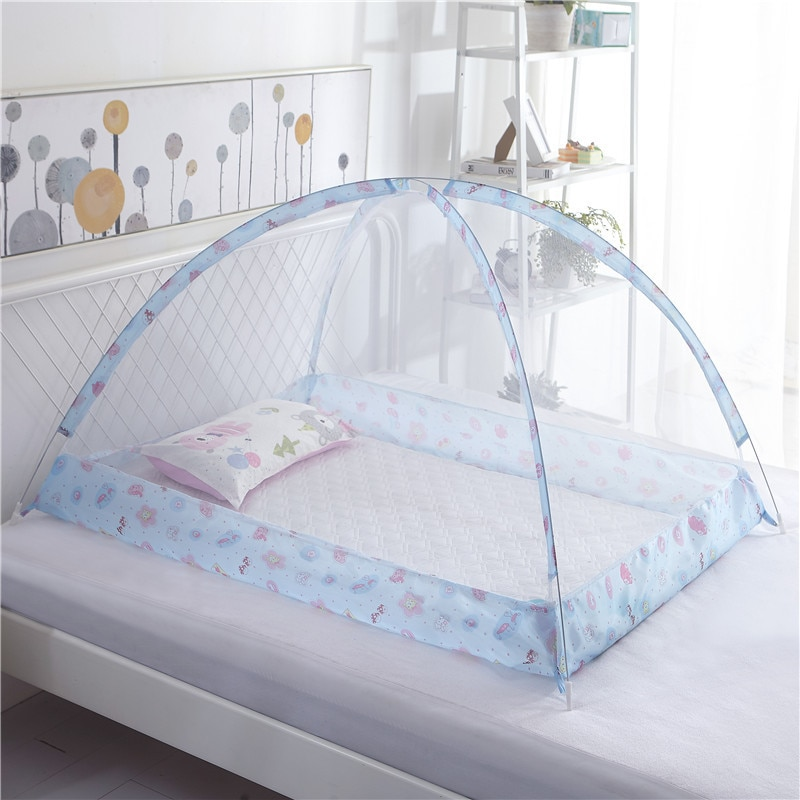 baby crib netting baby bed mosquito nets mattress pillow portable mosquito net tent crib sleeping cushion collapsible for kids Portable Baby Bedding Crib Mosquito Net Infant Cradle Baby Bed Tent Folding Crib Netting Mosquito Mesh for 0-3 Years 120*80cm