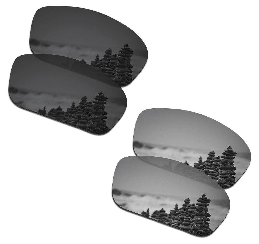 SmartVLT 2 أزواج الاستقطاب النظارات الشمسية عدسات لاستبدال أوكلي Straightlink الشبح الأسود والفضي التيتانيوم