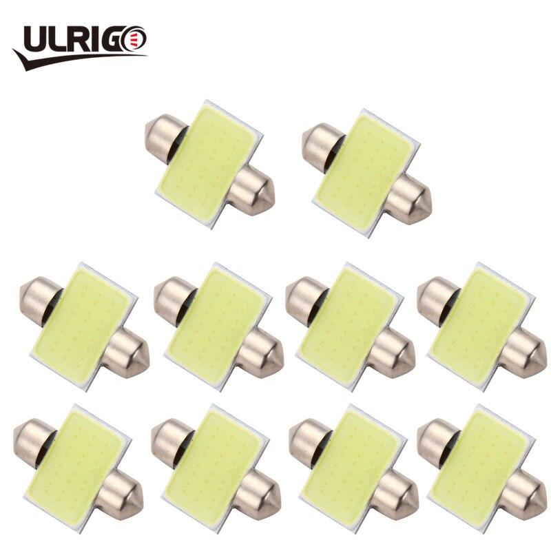 ULRIGO 10 Uds Super Blanc 31mm 36mm 39mm 41mm C5W 12V mazorca LED Voiture adorno Lumiere cúpula los siguientes modelos Auto carta Toit Conferencia ampolla