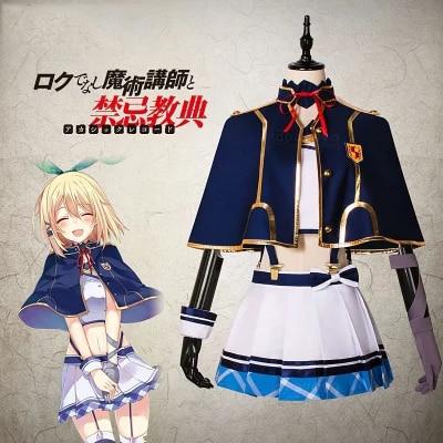 Jp anime rokudenashi majutsu koushi para registros akashic rumia tingel uniforme cosplay traje frete grátis