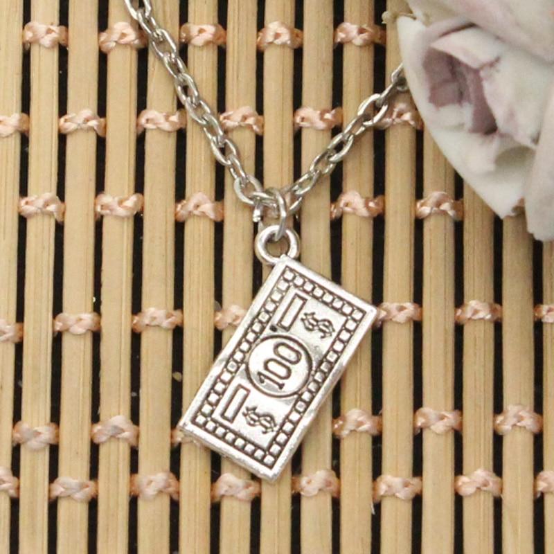 Новая мода, 100 долларов, подвески для денег, круглый крест, цепочка, короткая, длинная, мужская, женская, сделай сам, серебряный цвет, ожерелье,...