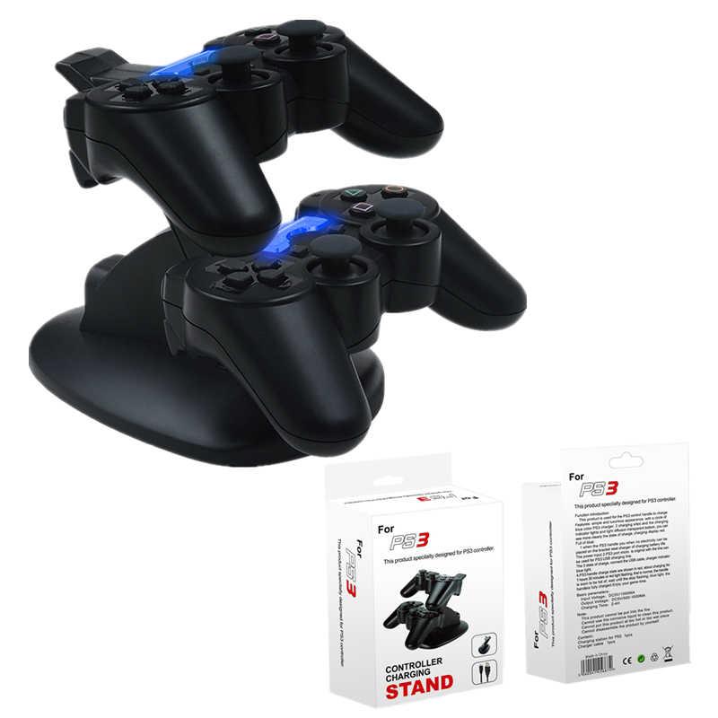Cargador De Consola Dual Soporte De Estación De Acoplamiento De Carga Para Sony Playstation 3 Ps3 Con Indicadores Led 1 3 Cargadores Aliexpress