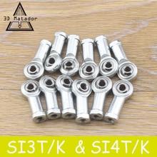 12 stks 4mm/3mm SI4P/K SI3P/K Draadstang Lager Metrische Draad SI4T/K SI3T/K voor Delta Kossel 3D printer deel Carbon staaf