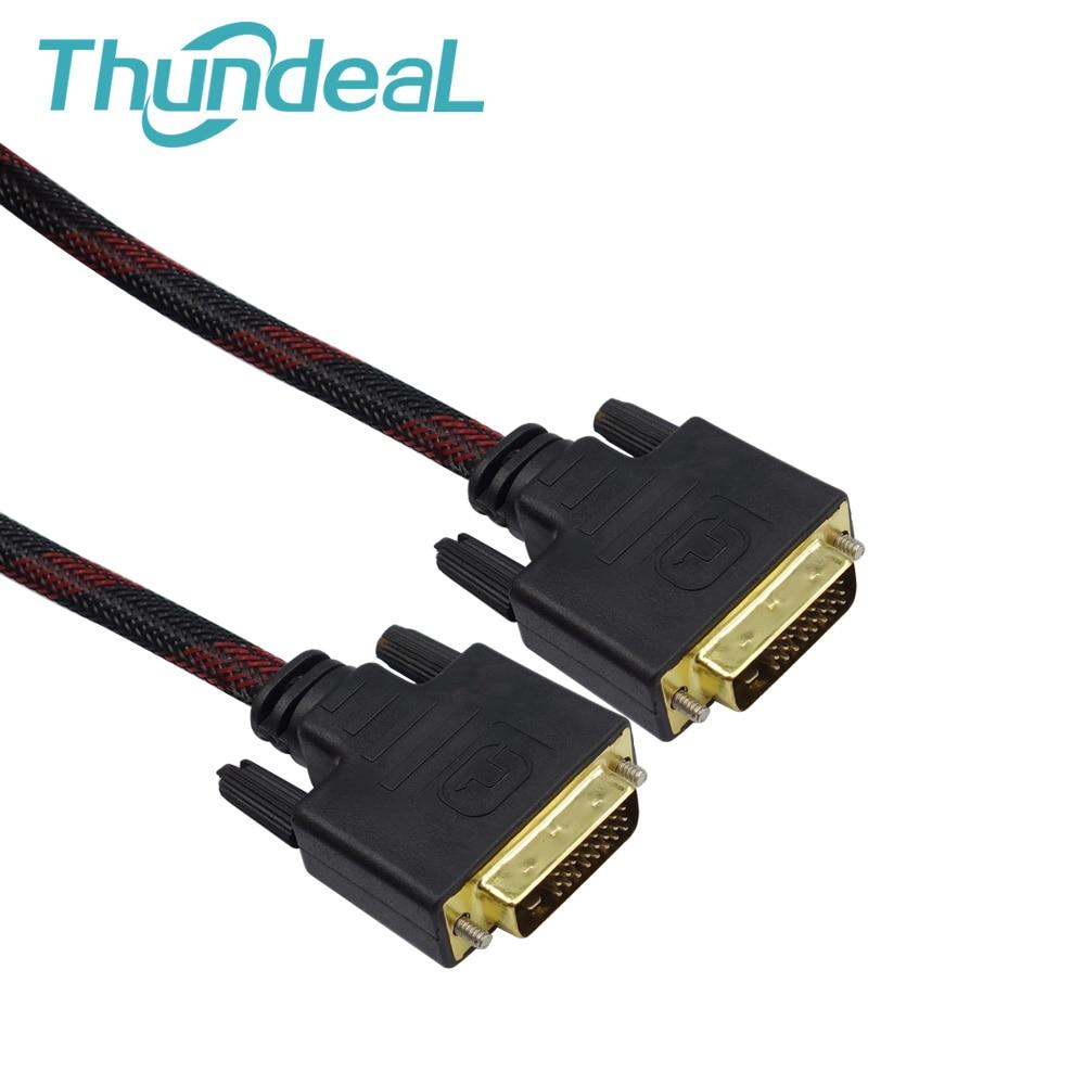 High Speed DVI auf DVI Kabel 1,4 m Gold überzogene Magnetische Ring doppel ferrit kerne DVI-D 24 + 1 pin stecker auf Stecker M/M Signal