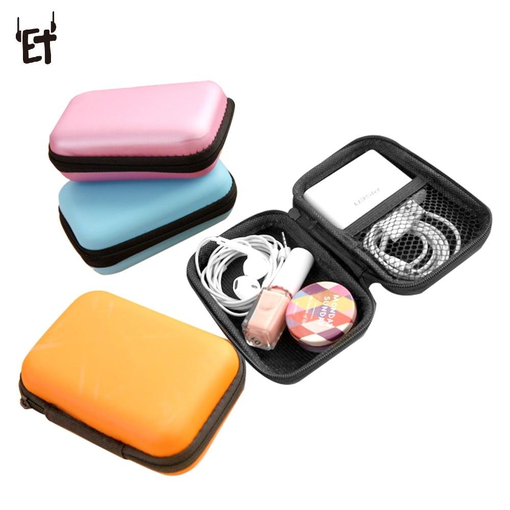 Minibolsa con cierre para herramientas de maquillaje Cable de datos cargador conectado auriculares bolsa organizadora para almacenamiento Zip Lock bolsa de Estuche De Viaje portátil