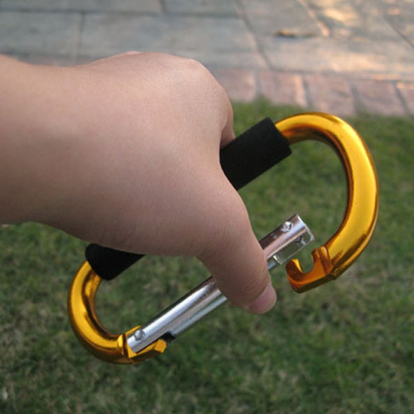 2pcs/lot Big Large Carabiner D Shape Hook Aluminum Alloy Shopping Buckle Survival safety Travel Kit For Roller Skate Hammock