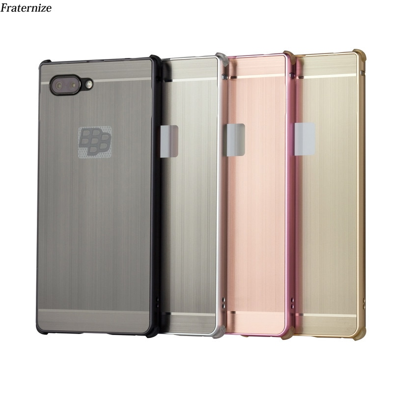Key2 Aluminum Shockproof Case For Blackberry Key 2 Two Metal bumper Frame+ Plastic Brushed Phone Case Back Cover cases Coque