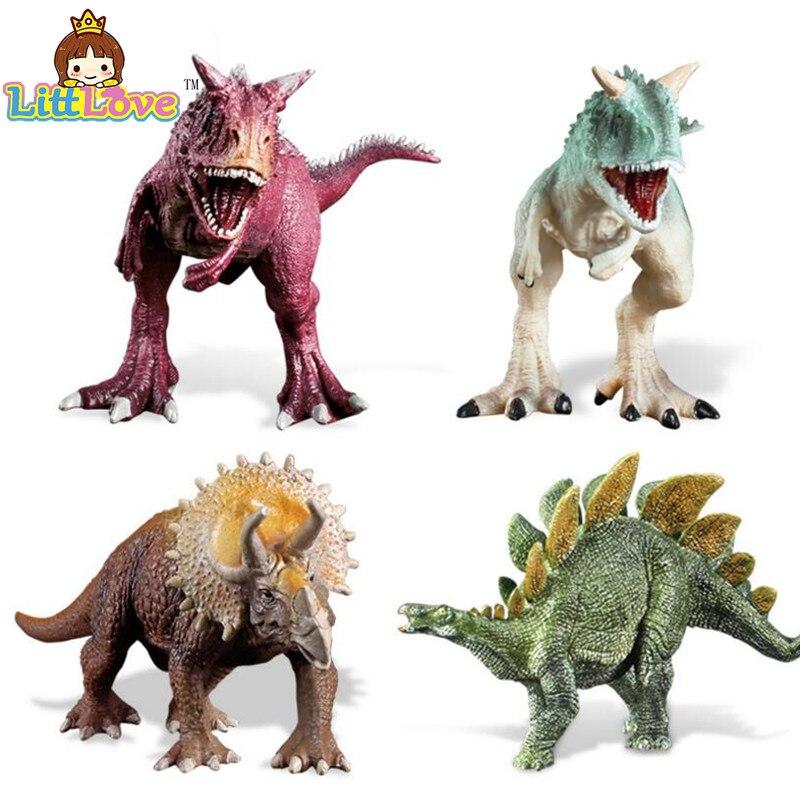 LittLove, Triceratops jurásico, estegosaurus Carnotaurus, dinosaurios, modelos de animales de plástico, colección de figuras de acción, juguetes para niños