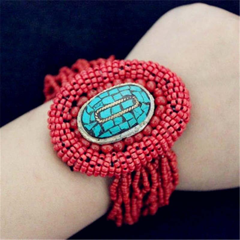 BB-412 tibetano pulseiras nepal latão encantos pulseiras multi cores