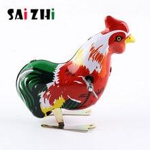Saizhi classique Mini horloge Animal coq poussin enfants liquidation enfants éducatifs haute imitation poussin jouets SZ1929