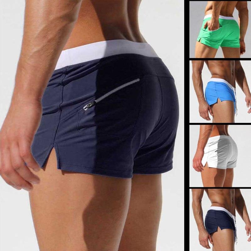 Marke Shorts Männer Zipper Tasche Casual Herren Shorts Schnell Trocken Boardshorts Jogger männer Badehose Sommer Herren Kurze homme masculino
